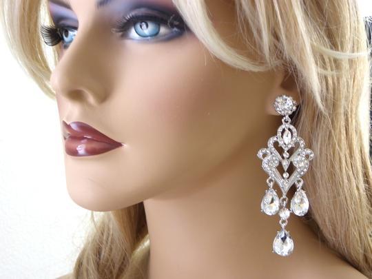 Clear Crystal Chandelier Earrings