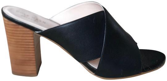 Cole Haan  Black Gabby Crisscross Heel Sandal Mules/Slides
