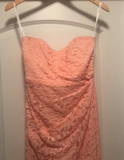 David's Bridal  Bellini Lace Long Strapless Sweetheart Neckline Formal Bridesmaid/Mob Dress