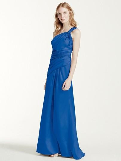 David's Bridal  Black Satin F15752 Formal Bridesmaid/Mob Dress