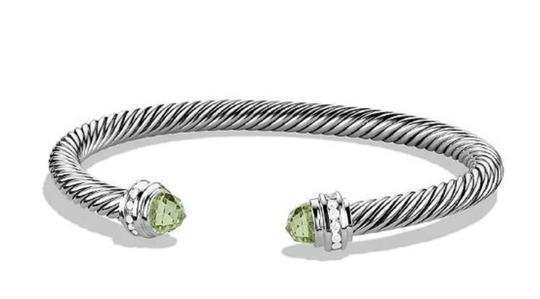 David Yurman  Prasiolite 5mm Diamond Cable Classics Bracelet