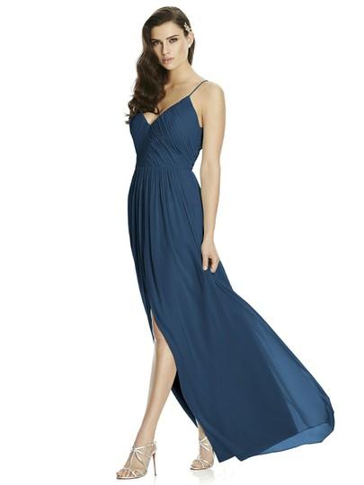 Dessy  Dark Blue Chiffon 2989 Modern Bridesmaid/Mob Dress