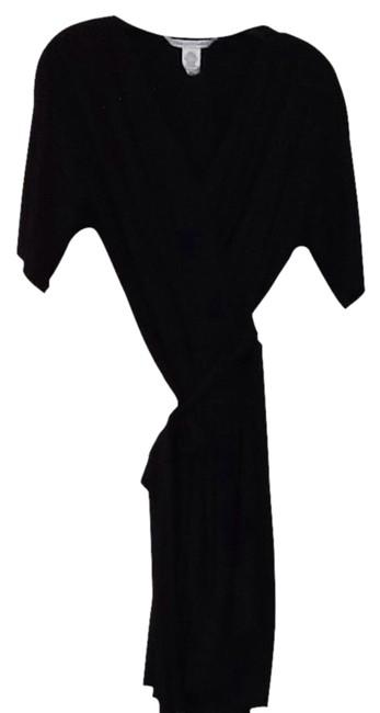 Diane Von Furstenberg  Black Silk Wrap Cocktail Dress