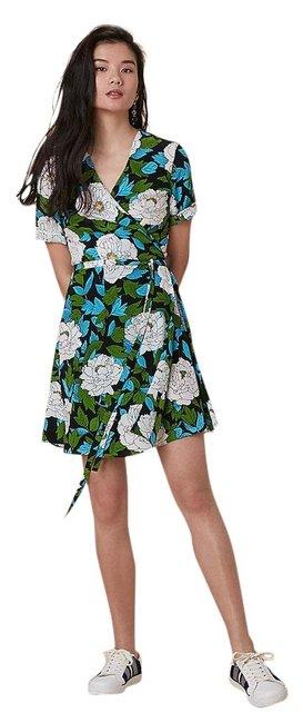Diane Von Furstenberg  Floral Green New Savilla Casual Dress