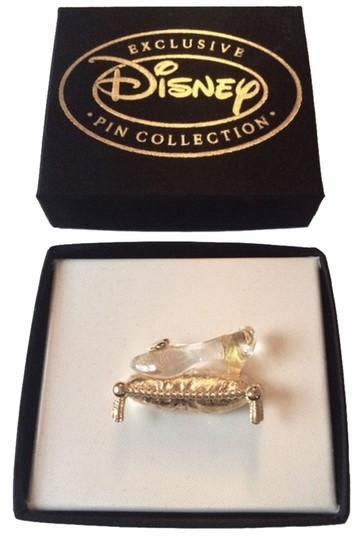 Disney  Gold Vintage Cinderella's Slipper Brooch