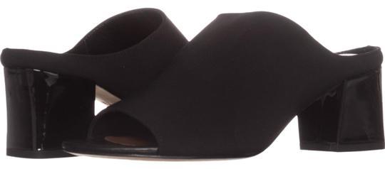 Donald J. Pliner  Donald J. Pliner Black Ellis Low-Heel Sandals 744 Mules/Slides