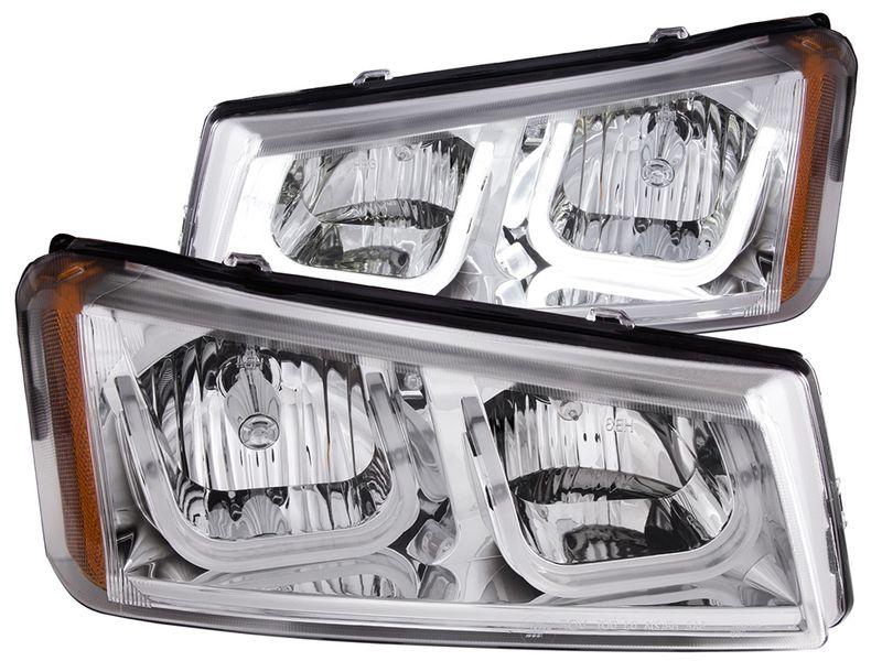 Anzo Chrome Crystal U-Bar Headlights