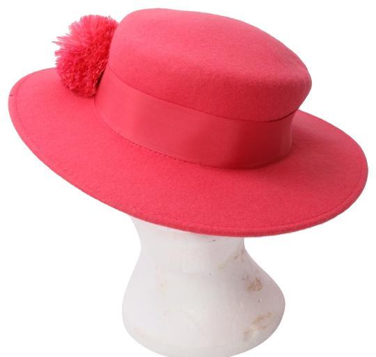 Eugenia Kim  Pink Brigitte Wool Felt Boater Hat