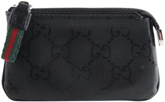 Gucci  Black Imprime Monogram Key Case Wallet