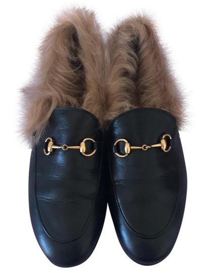 Gucci  Black Jordaan Wool Loafer Mules/Slides