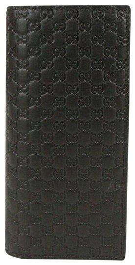 Gucci  Dark Brown Long Microguccissima Leather Bi-Fold 544479 2044 Wallet