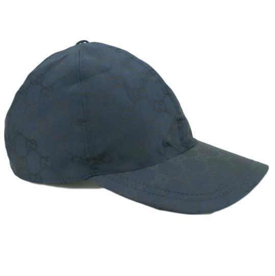 Gucci  Blue XL W 387578 Gg Guccissima Baseball Cap W/ Web Detail Hat