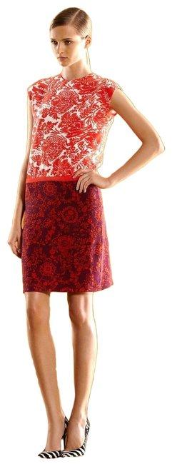 Gucci  Multi-Color New Runway Silk Floral T-Shirt 40 284037 Short Casual Dress