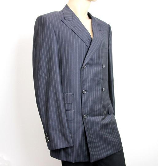 Gucci  Navy/Stripe New Men's Blazer Coat Jacket Eu 52l Us 42l 077613 Groomsman Gift