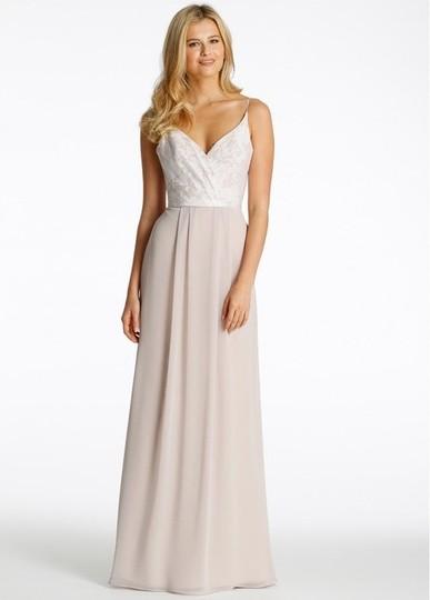 Hayley Paige  Ivory/Candlelight/Cashmere Chiffon & Tuileries 5605 Feminine Bridesmaid/Mob Dress