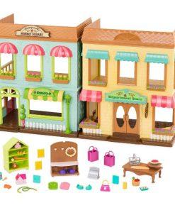 Li'l Woodzeez Shop Playset with Accessories 38pc - Honeysuckle Market Square