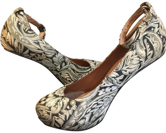 Jeffrey Campbell  Gold Silver Black Mules/Slides