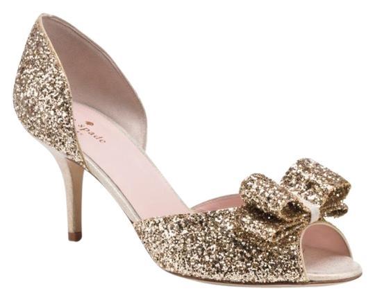 Kate Spade  Gold Glitter Sela Formal Shoes