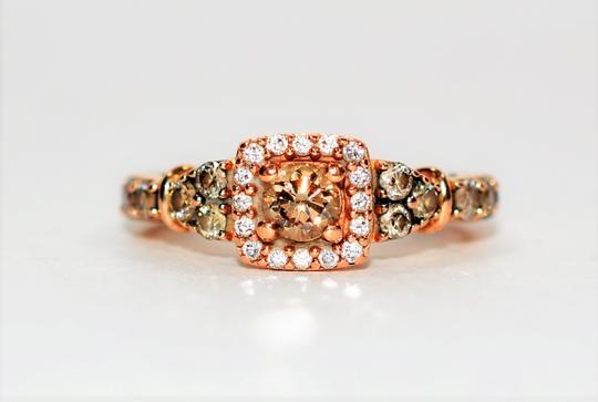 Le Vian  Chocolatier .88tcw Fancy Vanilla Diamond 14kt Rose Gold Engagement Ring