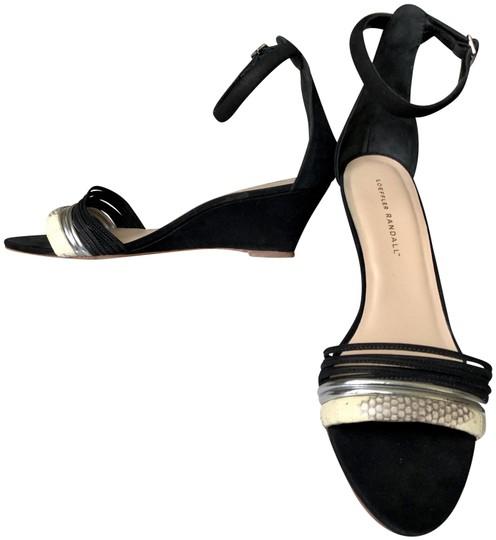 Loeffler Randall  Black Addie Ankle Strap Wedges