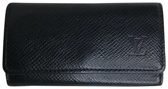 Louis Vuitton  Black 4 Key Holder Taiga Leather Wallet