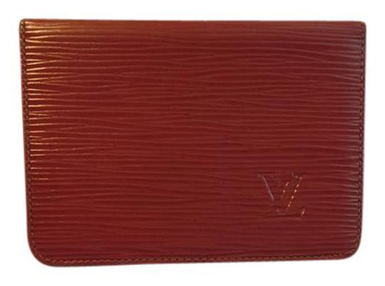 Louis Vuitton  Brown Epi Leather Kenyan Fawn Id Card Case/ Holder
