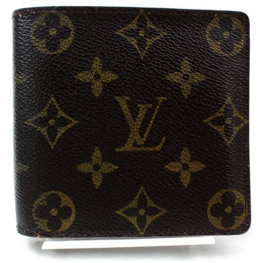 Louis Vuitton  Brown Monogram Bifold Portefeuille Marco 871753 Wallet