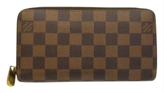 Louis Vuitton  Damier Canvas Long Round Zipper Zippy N41661 Women's Men's 378472 Ryb4581 Wallet