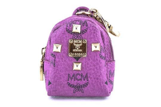 MCM  Purple Backpack Luc Miniature Keyring Stark Miniature Studs Clips