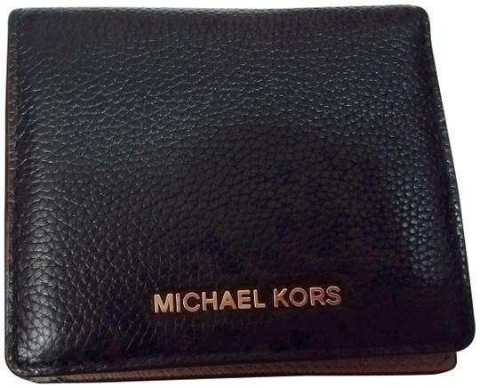 Michael Kors  Black Jet Set Travel Card Holder Coin Wallet