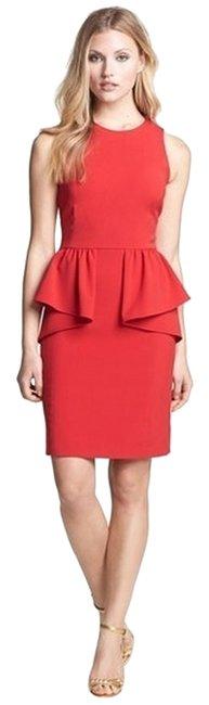 Michael Kors  Red Peplum Cocktail Dress