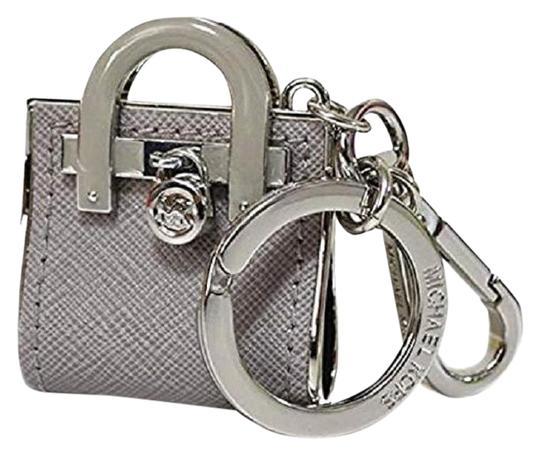 Michael Kors  Pearl Grey-Silver ~New With Tags~Michael Kors~Cute Hamilton Bag Key Fob Charm Keychain~