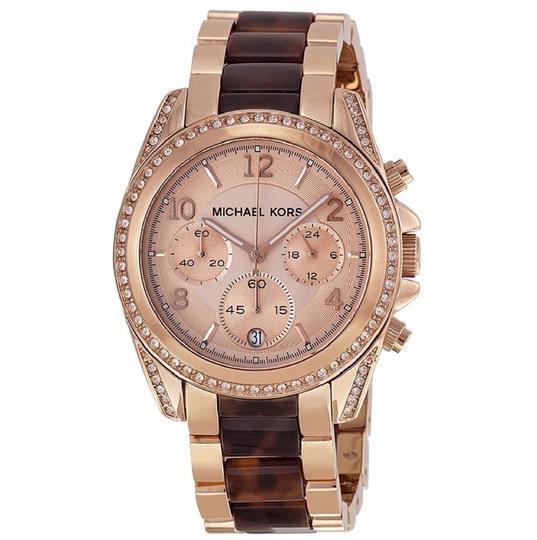 Michael Kors  Gold (Rosegold) Chronograph Blair And Tone Mk5859 Watch