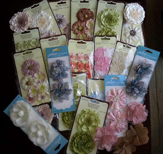 Michaels  Multicolor Floral Embellishments