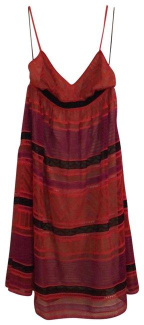 Missoni  Black Purple Red Tomato Orange Id0kd03i1kj Night Out Dress