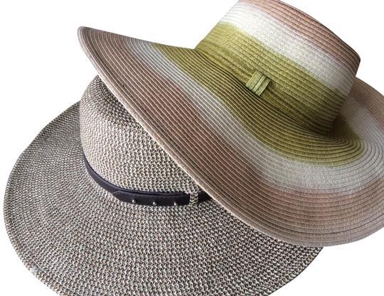 Nine West  Brown/Tan/Green W & Jessica Simpson 1 Is W/ Tag 1 Is Nwot Hat