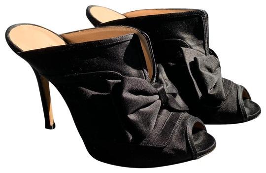 Oscar De La Renta  Black Mules/Slides