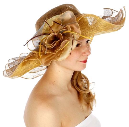 Pecan New Dress Formal Church Hat