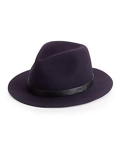 Rag & Bone  Indigo Abbott Fedora Hat