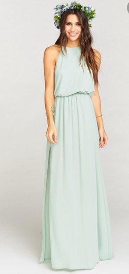 Show Me Your Mumu  Dusty Mint Heather Halter Crisp Formal Bridesmaid/Mob Dress