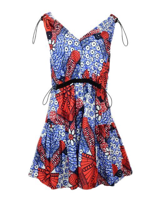 Stella McCartney  Multi-Colored Pattern V-Neck Pattern Sleeveless It 42 Casual Dress