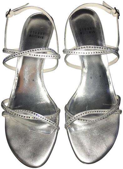 Stuart Weitzman  Silver Wattage Supple Kid Diamon Strappy Sandals Iw02882 Formal Shoes