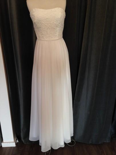 Theia  White Lace/Chiffon 910230 Donna Feminine Wedding Dress