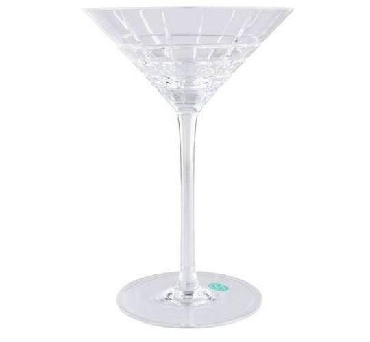 Tiffany & Co.  Crystal Plaid Martini Glasses. Barware