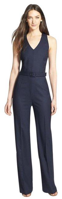 Tory Burch  Blue Trinity Wool-Blend Wide Leg Twill Navy Romper/Jumpsuit