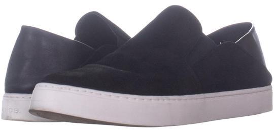 Vince  Black Garvey Flat Slip-On Fashion 733 Suede / Sneakers