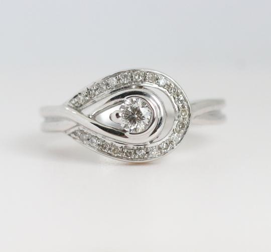 `White Gold Round Diamond Ope Eye In 14k Engagement Ring